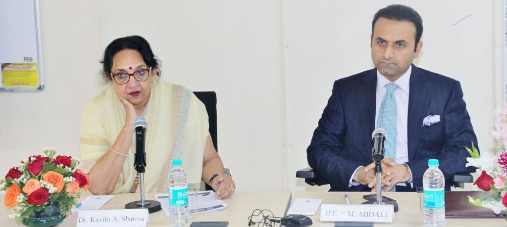 H.E. Abdali with Dr. Kavita Sharma