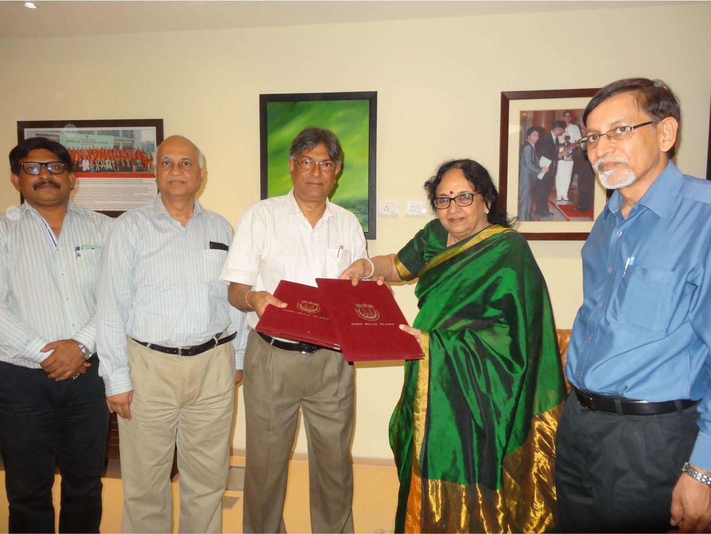 Dr. Kavita Sharma with Prof. Talat Ahmad, VC - JMIU